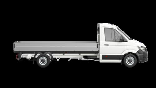Crafter 35 Pick-up met Enkele cabine Wielbasis 4490 mm Totaal gewicht 3500 kg Motor 2.0 TDI EU6 SCR RWD BMT 177pk (130KW) Versnellingsbak 6V