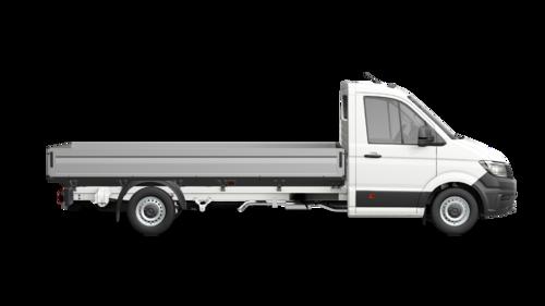 Crafter 35 Pick-up met Enkele cabine Wielbasis 4490 mm Totaal gewicht 3500 kg Motor 2.0 TDI EU6 SCR RWD BMT 140pk (103KW) Versnellingsbak 6V
