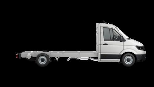 Crafter 35 Chassis met Enkele cabine Wielbasis 4490 mm Totaal gewicht 3500 kg Motor 2.0 TDI EUVI SCR RWD BMT 177pk (130KW) Versnellingsbak 6V