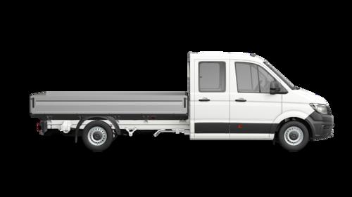 Crafter 35 Pick-up met Dubbele cabine Wielbasis 4490 mm Totaal gewicht 3500 kg Motor 2.0 TDI EU6 SCR RWD BMT 177pk (130KW) Versnellingsbak 6V